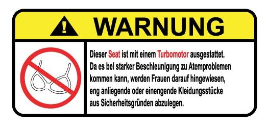 Aufkleber Warnung