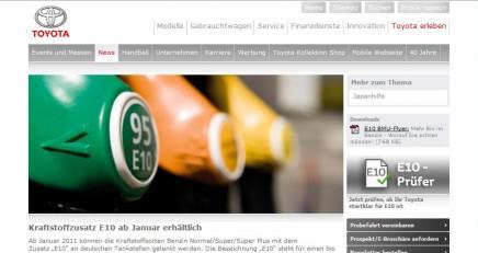 Online E10-Check Toyota Fahrer