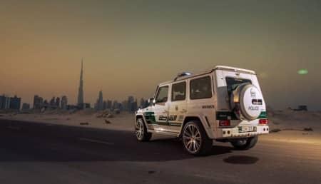brabus G-Klasse Polizeiauto Dubai