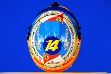 Helm Ferrari Pilot Fernando Alonso