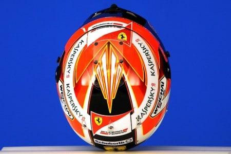Helm Ferrari Pilot Kimi Raikkonen