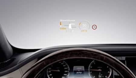 Mercedes S600 Innenraum Head Up