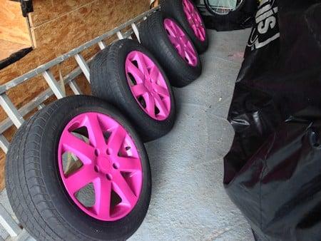 Felgen Sprühfolie pink