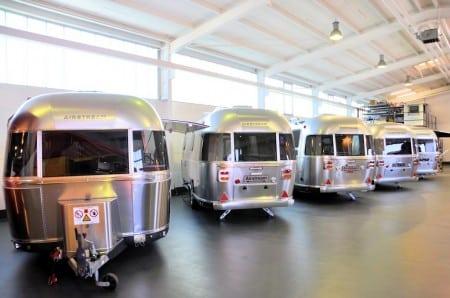 Neue Airstream Caravans im Roka Werk. Foto: Roka
