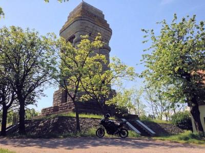 Besuch eines Bismarckturmes in Thüringen