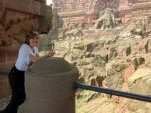Cora am Barte des Kaisers beim Kyffhäuserdenkmal
