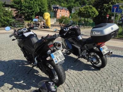 Triumph Tiger und BMW on Tour durch Thüringen