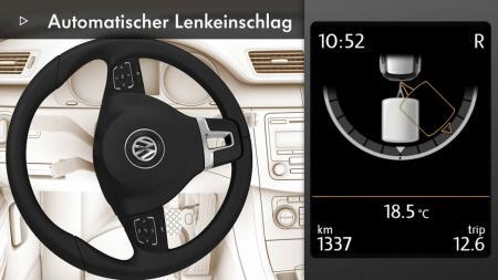 Einfaches einparken mit VW Passat, einem Anhänger und Trailer Assist