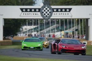Lamborghini Aventador Superveloce and Huracan beim Goodwood Festival of Speed 2015