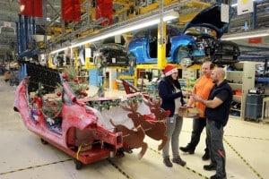 Ford Fiesta Weihnachtsschlitten