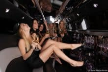 party in der stretch limousine