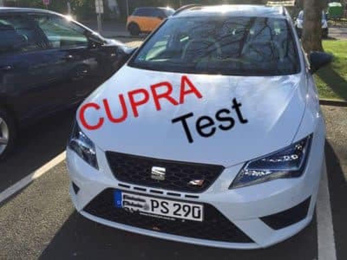 Cupra 290 Schriftzug hinten Heckklappe Tuning Emblem 5F Original Seat Leon