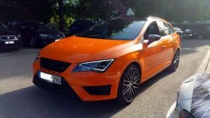 Seat Leon ST Cupra 290 Folierung Orange