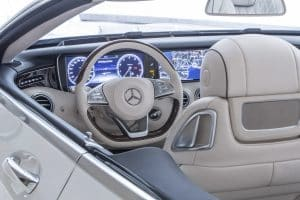Mercedes S500 Cabriolet Innenraum