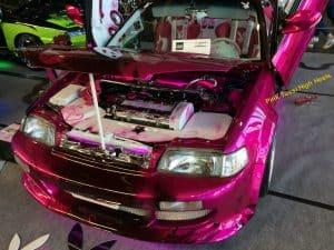 Pink Tussi Car mit High Heels