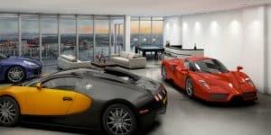 Bugatti Lambo Garage Penthouse