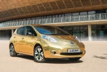 Gold Folierung Nissan Leaf