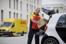 smart dhl Kofferraum Zustellung