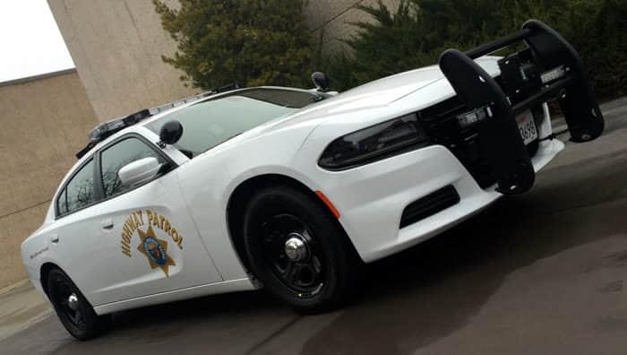 US Polizeiauto mit Bullenfänger Rammbügel
