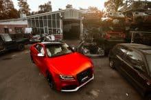 Audi RS5 Folierung Tuning rot