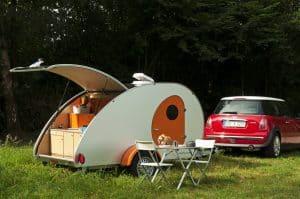 Mini Wohnwagen Teardrop
