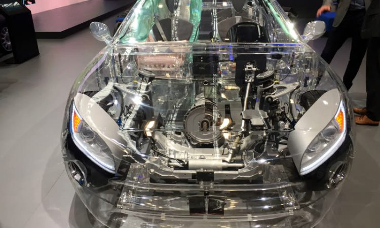 Glasauto Auto aus Glas