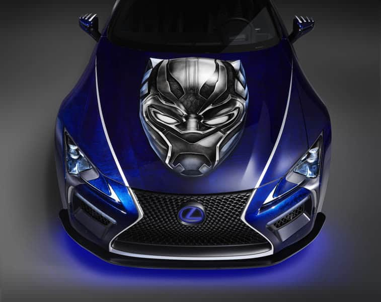 Lexus LC Tuning Black Panther