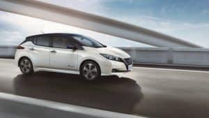 Neuer Nissan Leaf Elektroautos