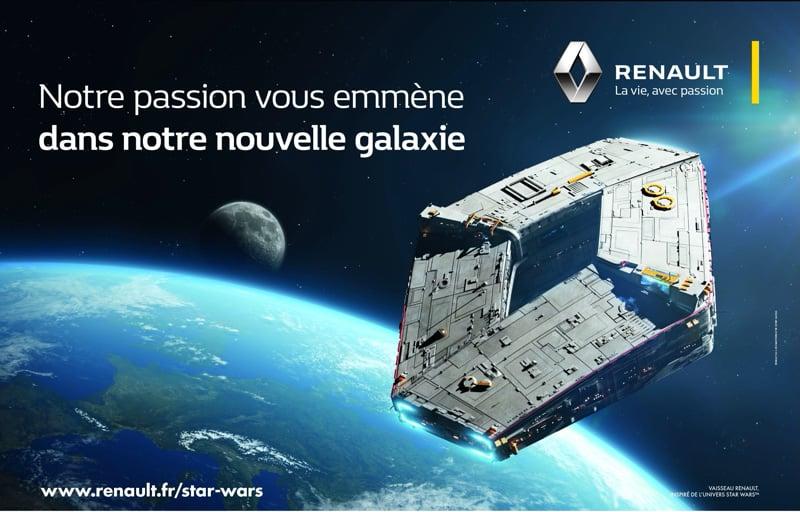 Renault Logo Star Wars Raumgleiter