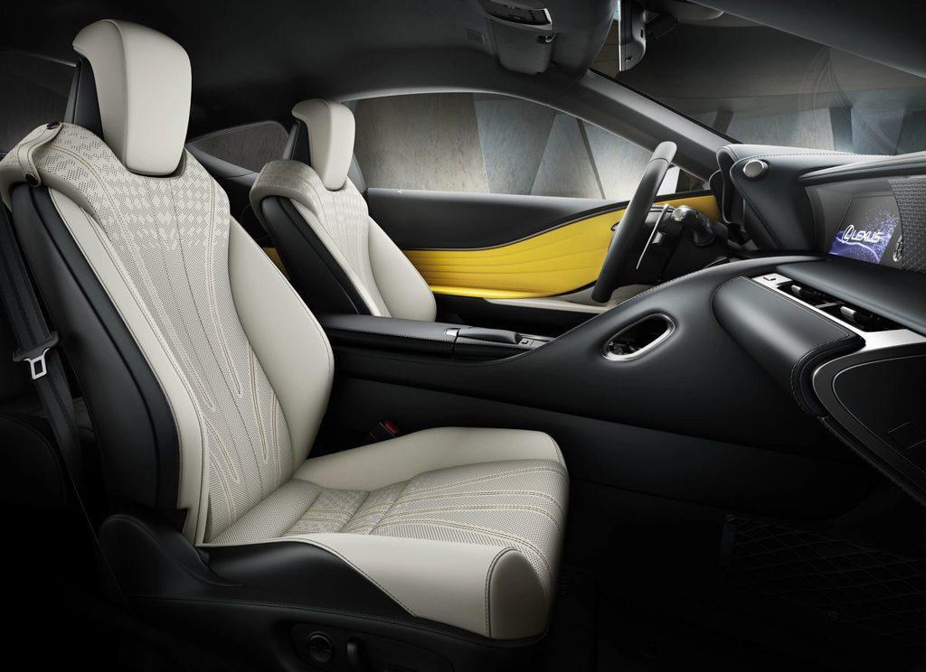 Lexus LC Yellow Edition Innenraum