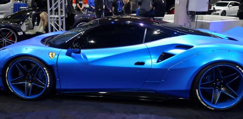Lamborghini Folierung blau