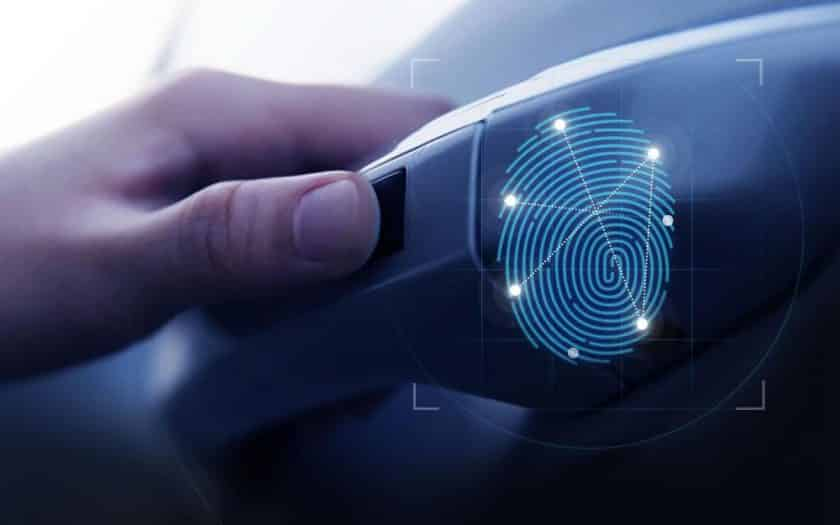Hyundai Santa Fe 2019 Fingerabdruck Lenkrad