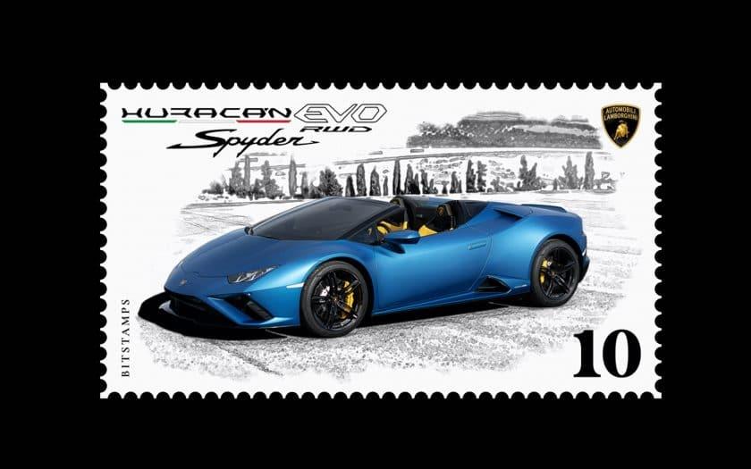 Digitale Lamborghini Briefmarken