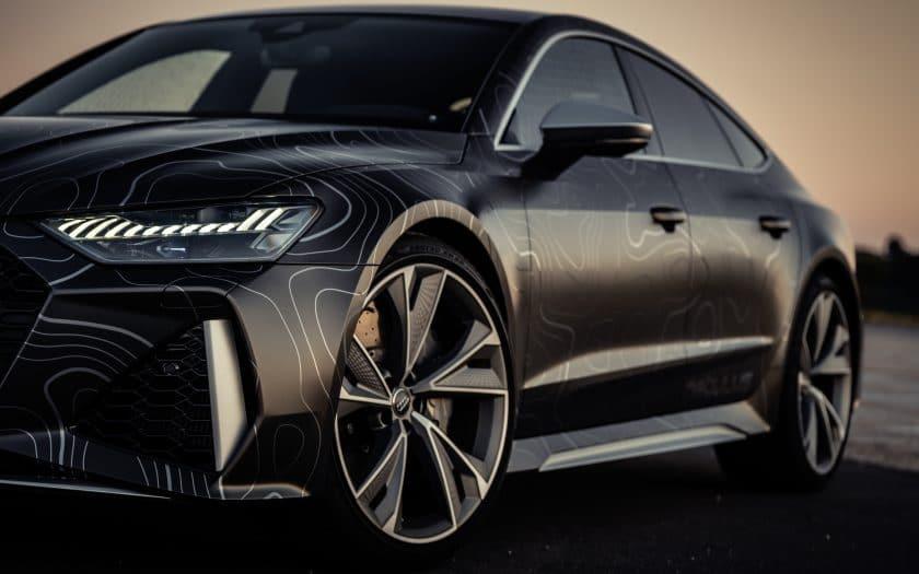 Audi RS7 Tuning Folierung schwarz