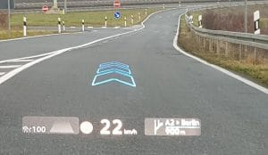 VW ID 4 Probefahrt mit HUD Display