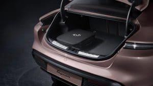 Elektrische Sportlimousine Porsche Taycan 2021 Kofferraum