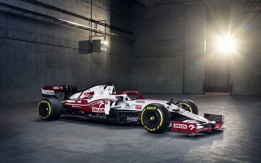 Alfa Romeo Formel 1 Rennwagen 2021